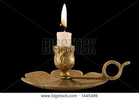 Brass Candleholder - Horizontal