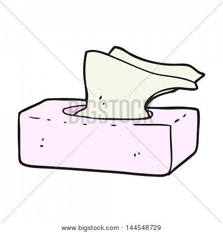 freehand drawn cartoon box of tissues