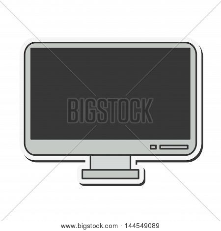tv gadget television display technology icon. Flat and Isolated design. Vector illustration