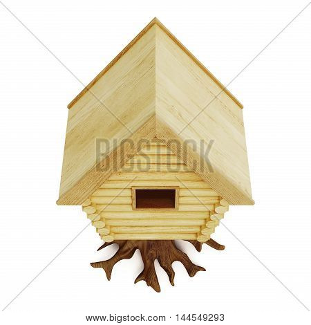 Fabulous Hut Top View Isolated On A White Background. 3D Rendering