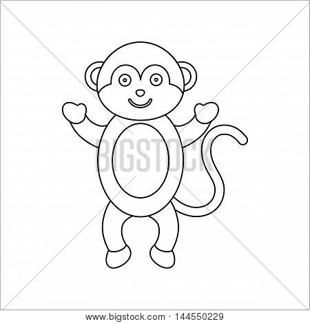 Monkey line icon. Illustration for web and mobile.