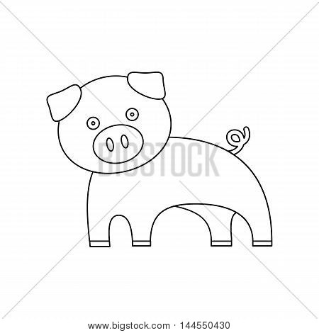 Pig line icon. Illustration for web and mobile.