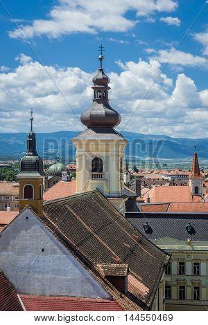 Holy Trinity Roman-Catholic Church in Sibiu city in Romania