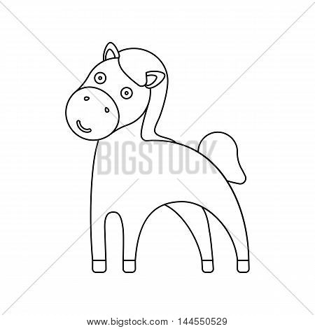 Horse line icon. Illustration for web and mobile.