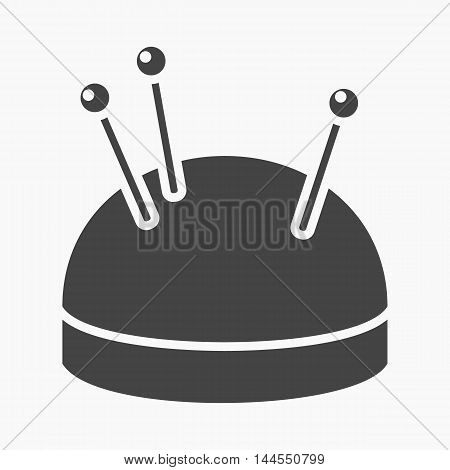 Needles and pillow icon of vector illustration for web and mobile design