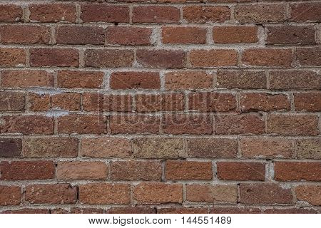 Close up background of old vintage brick wall