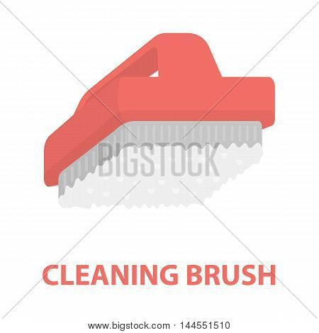Cleaner brush cartoon icon. Illustration for web and mobile.