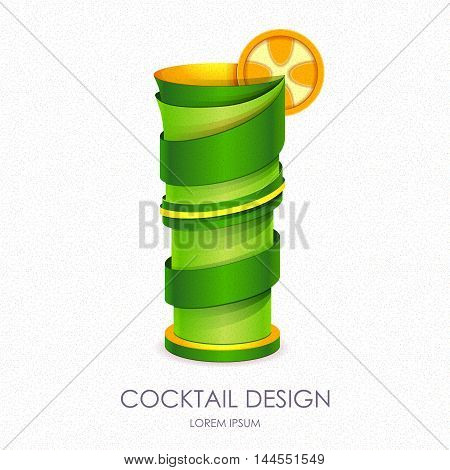 3D Cocktail Design.vector Icon