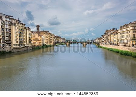 The Ponte Vecchio or Old Bridge was the only bridge across the Arno in Florence until 1218.