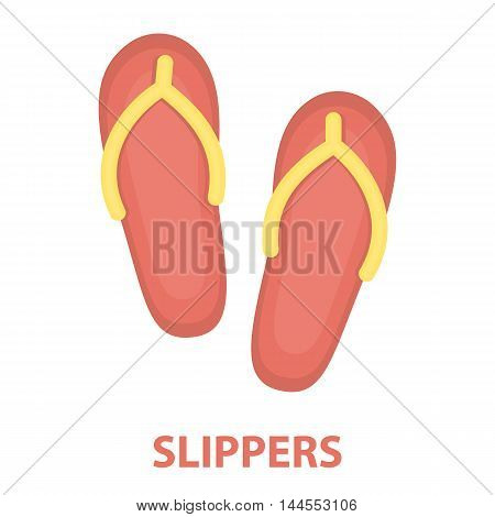 Slippers icon of vector illustration for web and mobile design