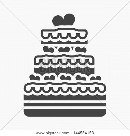 Wedding cake icon of vector illustration for web and mobile design