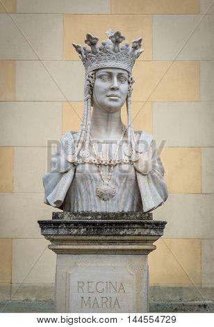 Marie of Romania bust in Citadel of Alba Iulia city in Romania