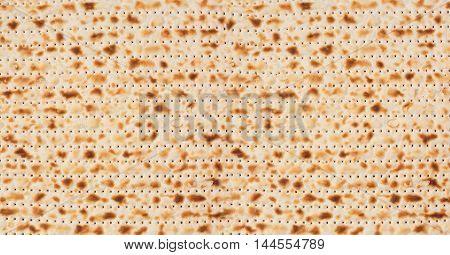 Jewish holiday Passover background. Matzo texture pattern