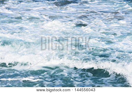 Close Up View Of Beautiful Blue Ocean