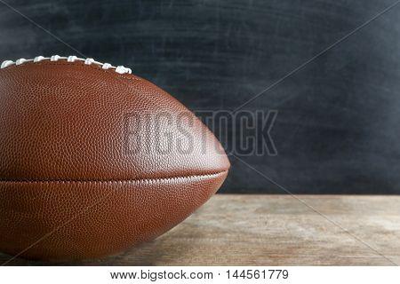 Ball on blackboard background