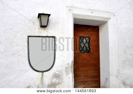 Vintage door door entrance to the tavern in Salzburg Austria.Travelling in Europe