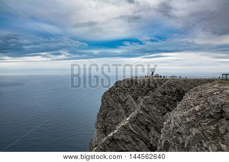 Barents Sea coast North Cape (Nordkapp) in northern Norway.