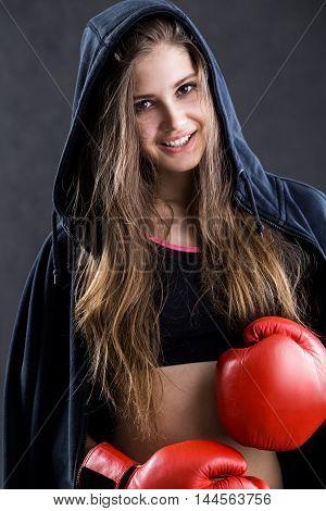 Smiling Girl In Sportswear