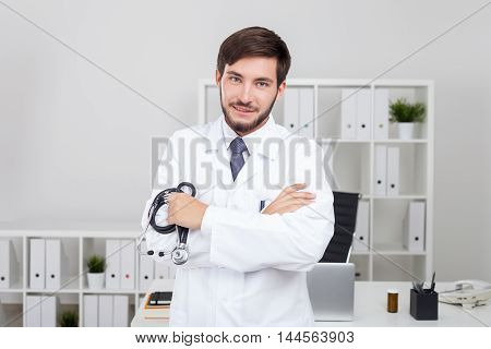 Pleased Bearded Doctor