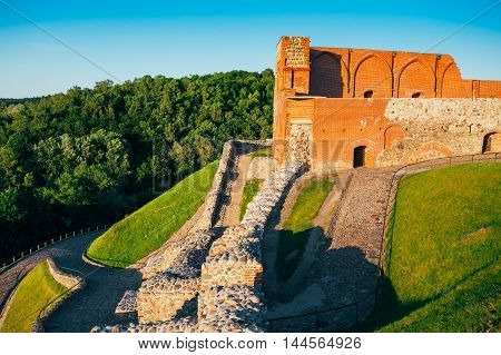 Vilnius, Lithuania. Upper Vilnius Castle Complex, Is A Group Of Cultural, And Historic Structures On Left Bank Of Neris River, Near Its Confluence With Vilnia River, In Vilnius, Lithuania.