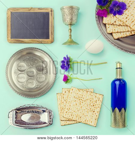 Passover objects and food set for creative design