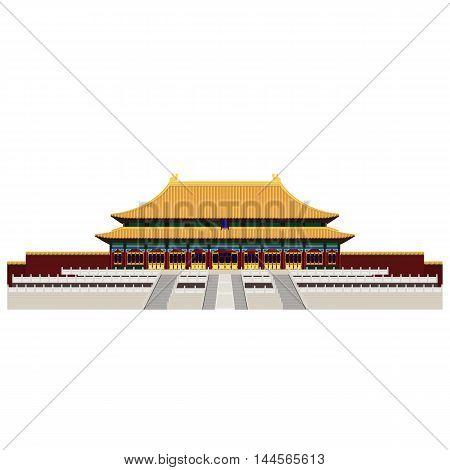 Forbidden City. Gate of Heavenly Peace. Tiananmen Square. Beijing
