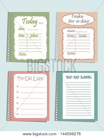 Set of four planners