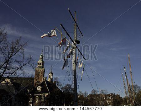the City of leer in the german eastern frisia