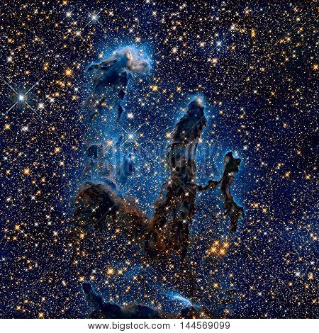 Pillars Of Creation. Eagle Nebula In The Constellation Serpens.