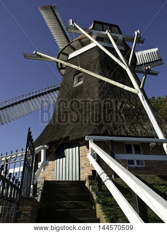 windmill near the City of leer in germany