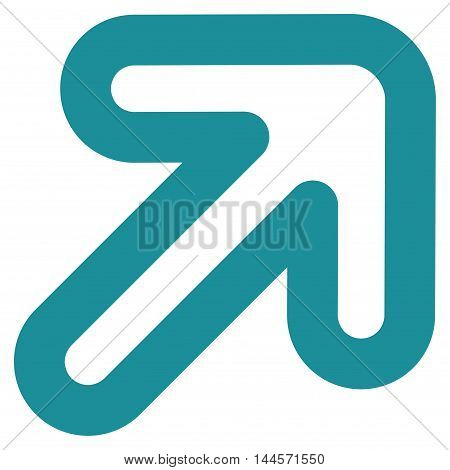 Right-Up Arrow vector icon. Style is linear flat icon symbol, soft blue color, white background.