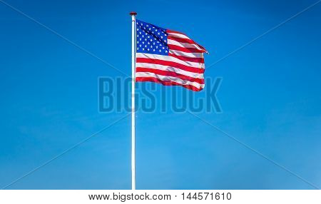 American Flag Waving In The Wind, Usa