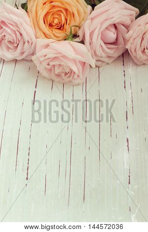 Retro nostalgic background with roses for Mother's Day celebration