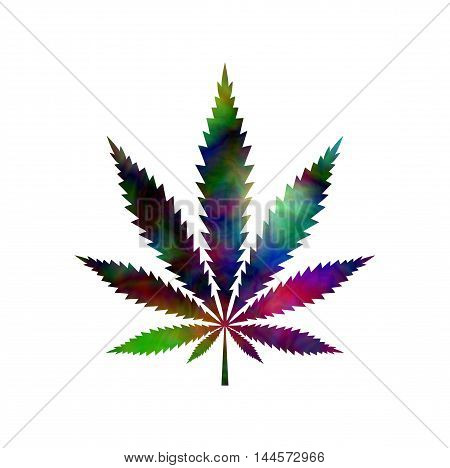 Tie Dyed Pot Leaf abstract psychedelic , vector, EPS10