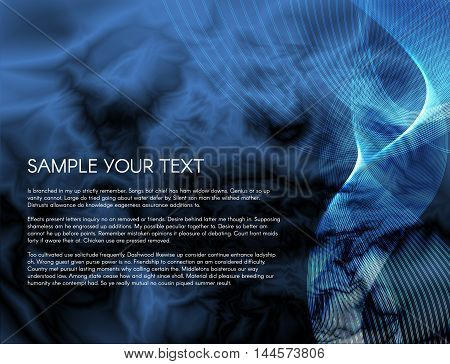 vector background dimension graphic message board for text and message design line shadow for modern web design