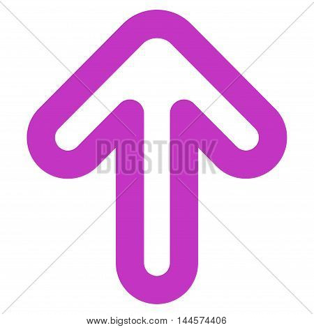 Up Arrow vector icon. Style is stroke flat icon symbol, violet color, white background.