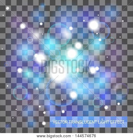 Vector translucent light effect, abstract design space background
