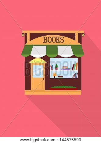 Sleek style book store bookstore vector illustration .