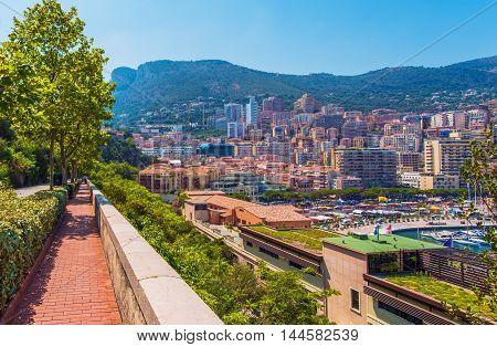Monte Carlo Monaco Destination. Monte Carlo Summer Cityscape Scenery
