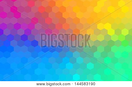 Abstract background - Colorful Geometrical shapes, Polygonal texture for webdesign - rainbow spectrum colors
