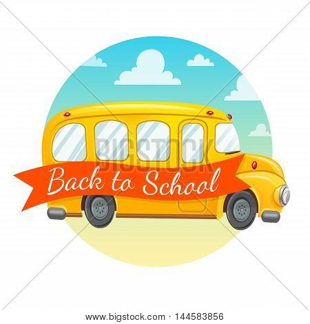 Welcome back to school. Autumn vector background.