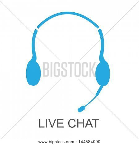 Live chat illustration on a white background