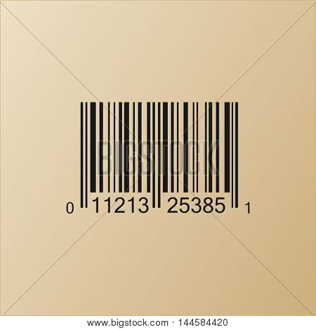 Vintage Bar code vector illustration isolated