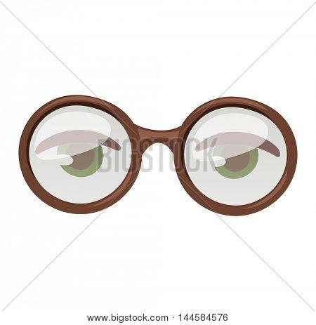 Glasses human eye vector