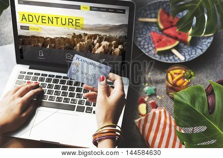 Adventure Trip Travel Destination Hiking Nature Concept