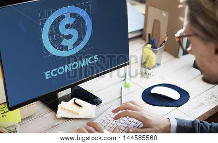 Economics Finance Money Technology Graphic Concept