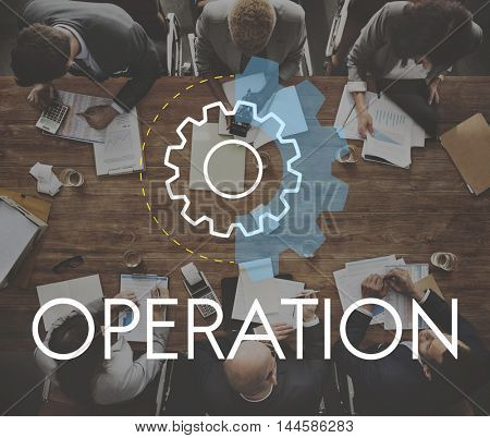 Operation Business Action Analysis Development Concept