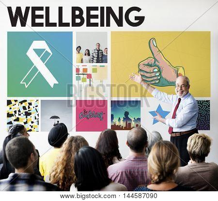 Ribbon Cure Healthcare Treatment Concept