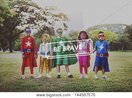 Brave Courage Achievement Aspiration Strong Concept