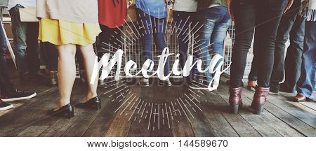 Meeting Meetup Organization Text Concept